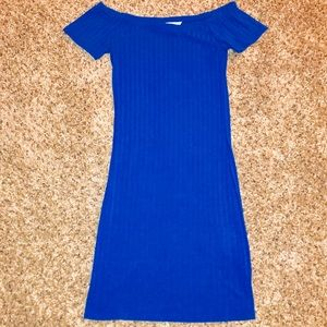 "Forever 21 Fitted ""Blueberry"" Mini Dress"